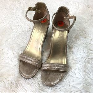 Kenneth Cole Reaction Gold Wedge Sandals size 9.5M